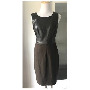 Anthropologie Bailey 44 leather front dress